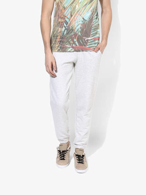 White Solid Regular Fit Chinos