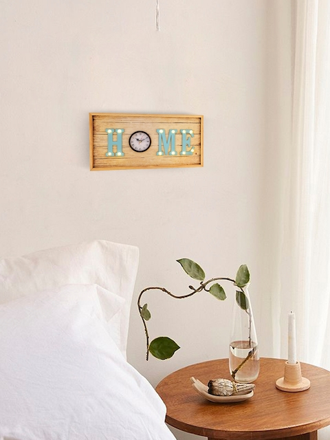 Archies Brown Wooden LED Wall Hanging