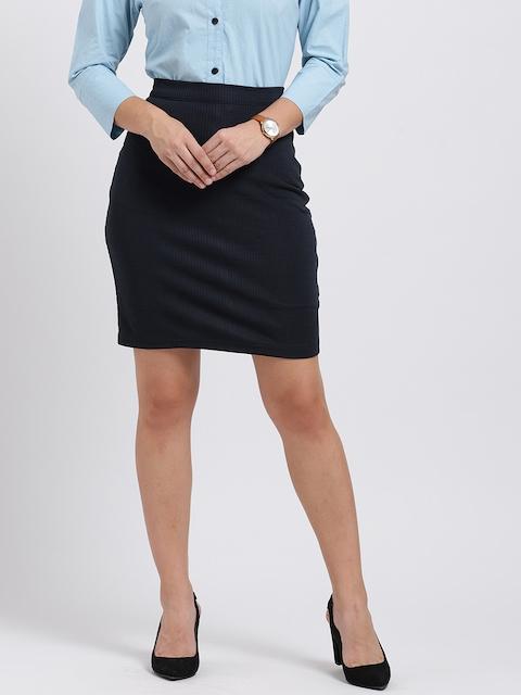Trend Arrest Women Navy Pencil Skirt