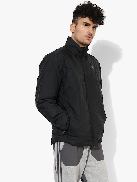 Bsc Insulated Black Solid Quilted Jacket