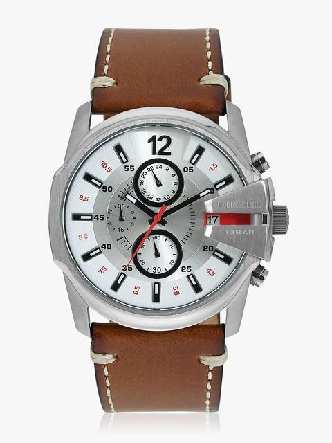 DZ4436 Brown/Silver Analogue Watch