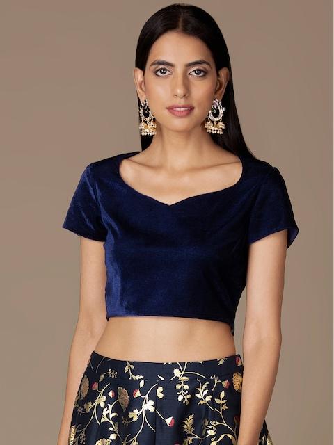 INDYA Women Blue Solid Blouse