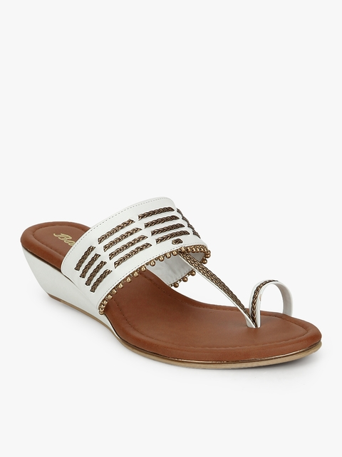 Kolhapuri White Open Toe Sandals