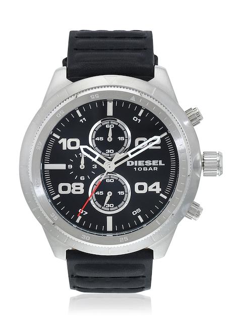Padlock Dz4439 Black/Black Chronograph Watch