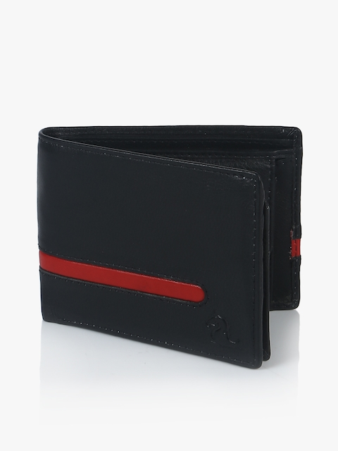 Black/Red Leather Coin Wallet