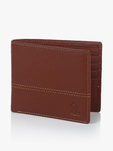 Orange Leather Coin Wallet