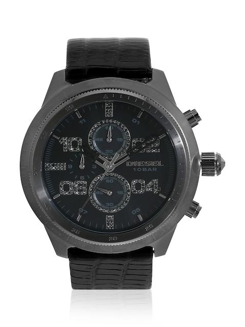 Padlock Dz4437 Black/Black Chronograph Watch