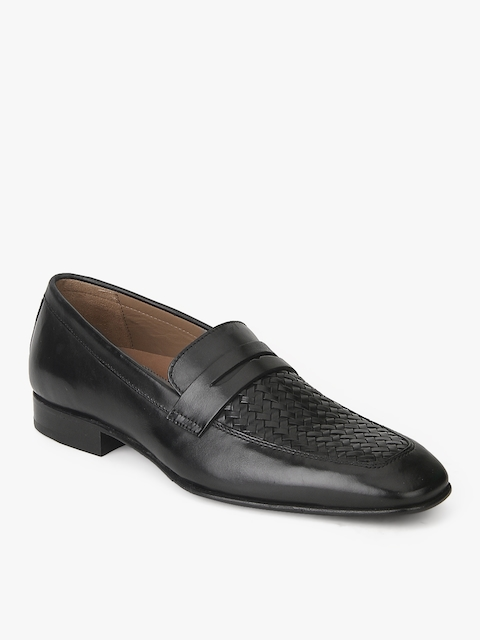 Black Weaved Formal Shoes