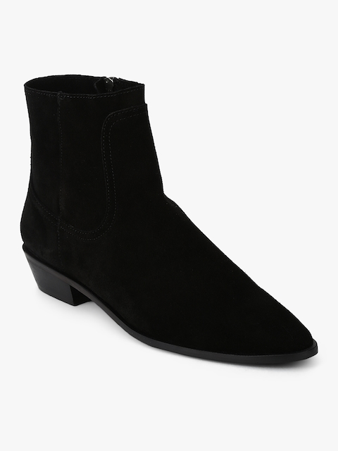 Grisel Black Flat Boots