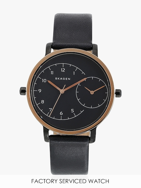 Hagen Skw2475i Black/Black Dual Time Analog Watch