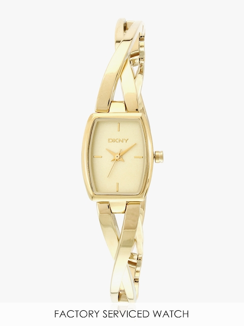Ny2313 Golden/White Analog Watch