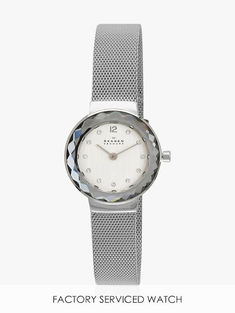 Leonora Silver/White Analog Watch