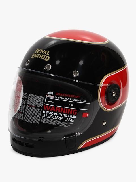Full Face With Visor Black/Red Helmet