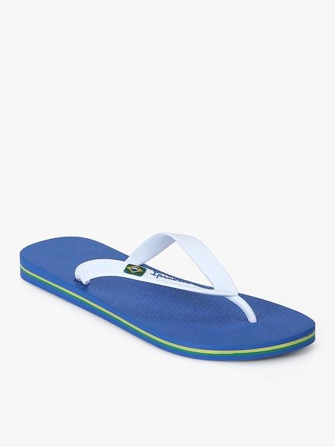 iPanema Unisex White & Blue Flip Flops