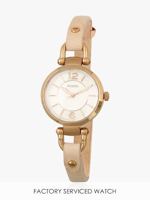 Es3745i Gold/White Analog Watch