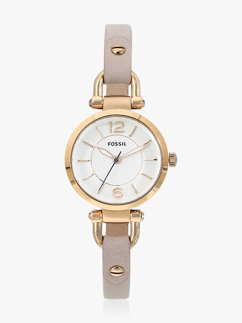 Georgia ES4340 Beige/White Analog Watch