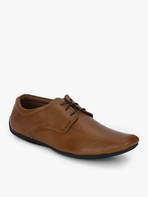 Tan Derbys Formal Shoes