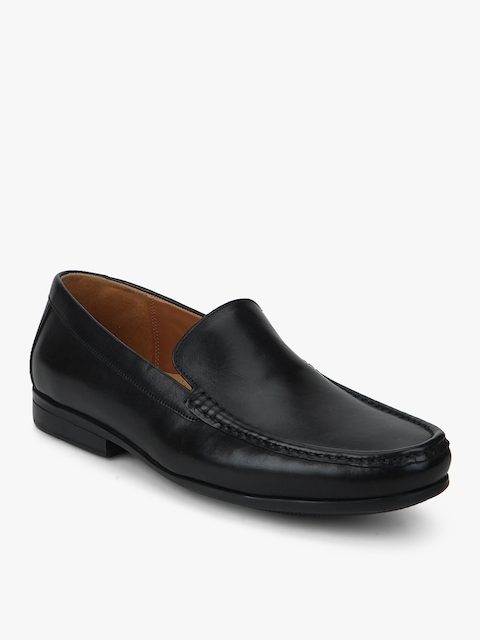 Claude Plain Black Loafers