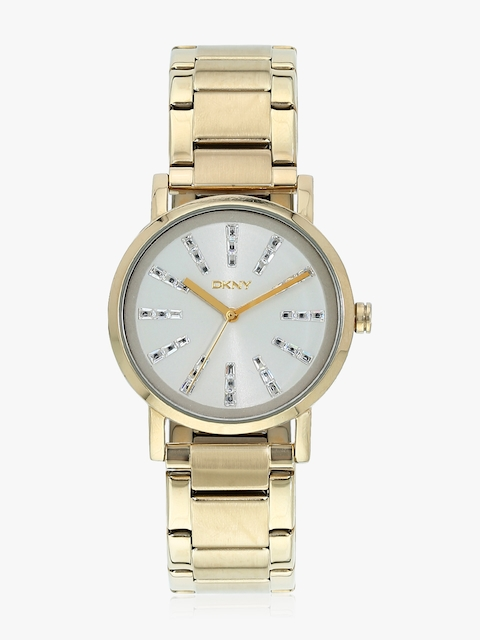 Ny2417 Gold/White Analog Watch