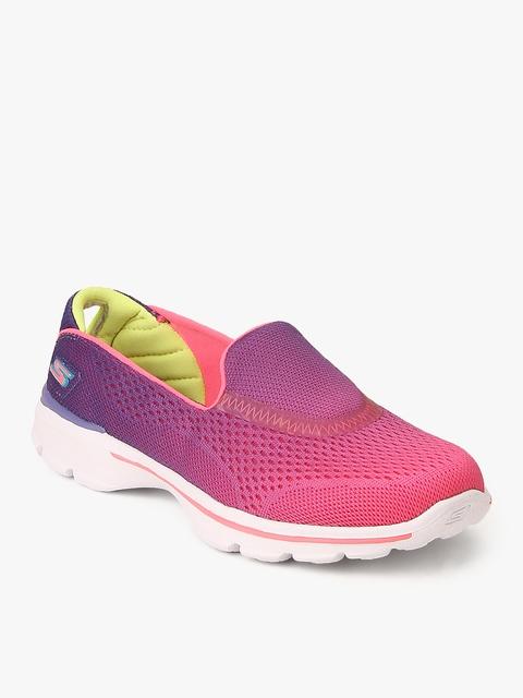 Go Walk 3 Pink Sneakers