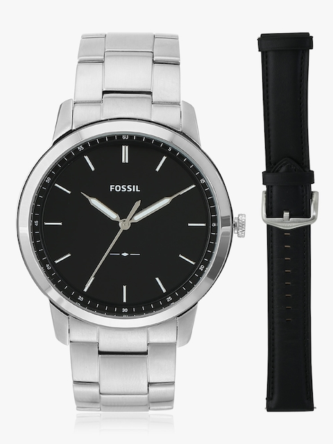 The Minimalist FS5451SET Silver/Black Analog Watch
