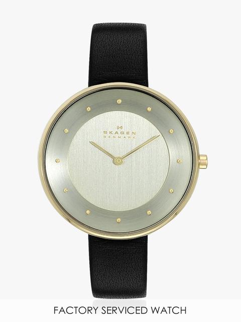 Hagen Skw2475 Black/Gold Dual Time Analog Watch
