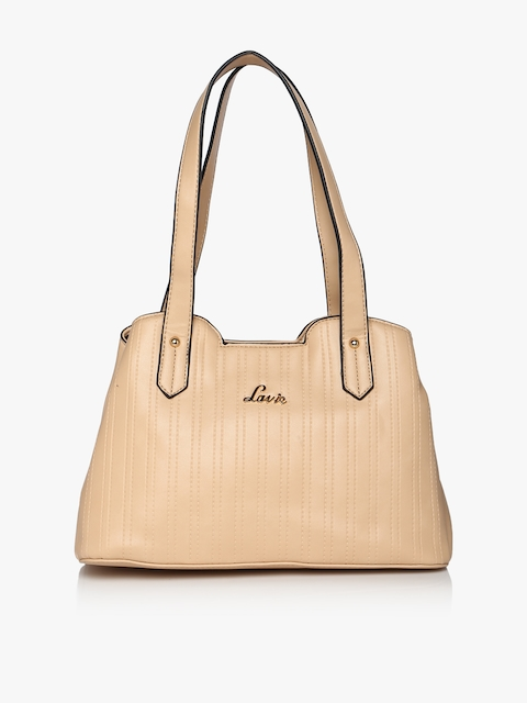 Beige Handheld Bag
