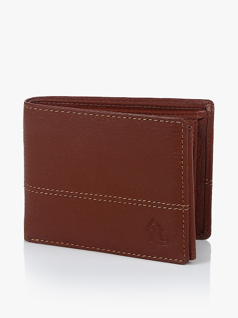 Orange Leather Coin Wallet