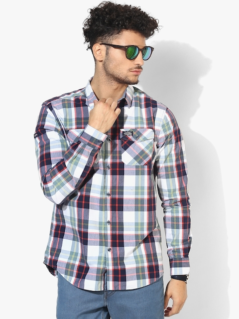 Multi Checked Slim Fit Casual Shirt