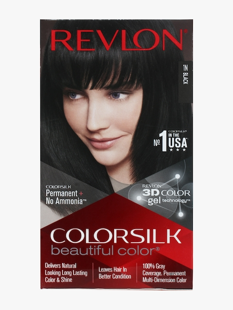 Colorsilk Dark Black 1N Hair Color With 3D Technology