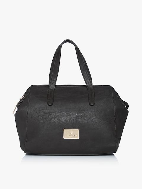 Laila Black Large Satchel Bag