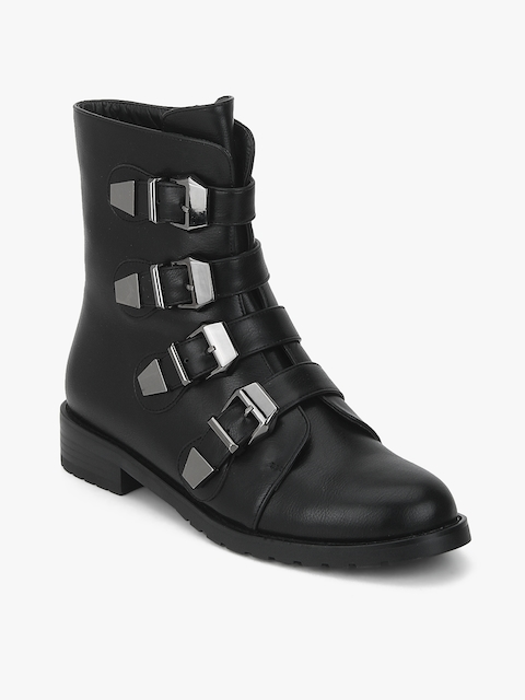Black Calf Length Boots