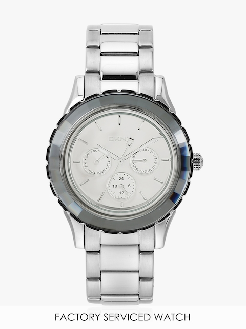 Silver/Silver Stainless Steel Analogue Watch