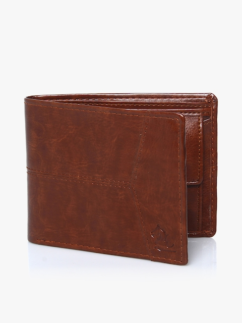 Tan Leather Two Fold Wallet