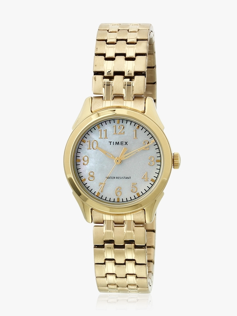Tw2r48500 Golden/Silver Mother Of Pearl Analog Watch