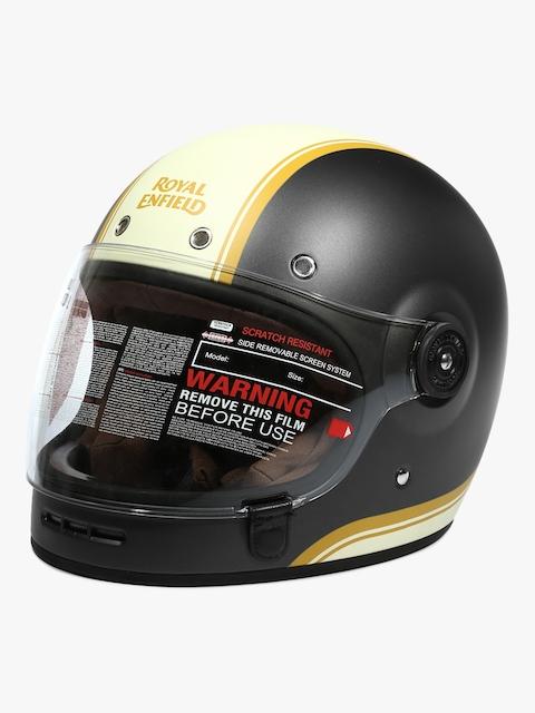 Full Face Grey/White Classic Helmet