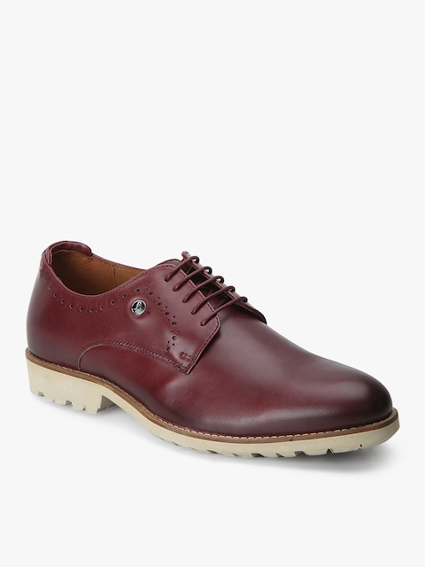 Hush Puppies Men Chomsky Wine Derby Formal Shoes