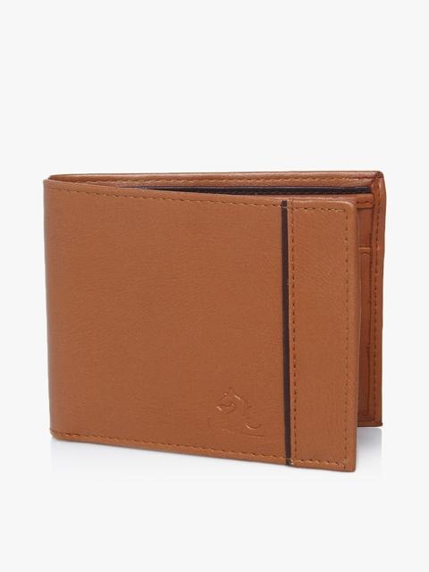Tan Two Fold Wallet