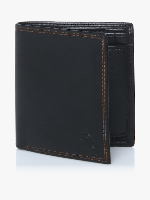 Black Two Fold Wallet