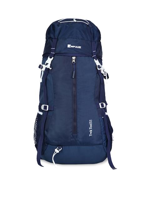 Impluse Unisex Blue Solid 60 Litres Rucksack