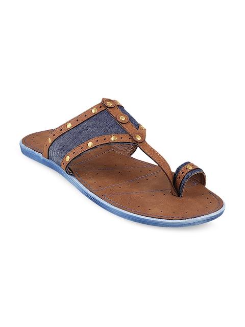 Metro Men Brown Comfort Sandals