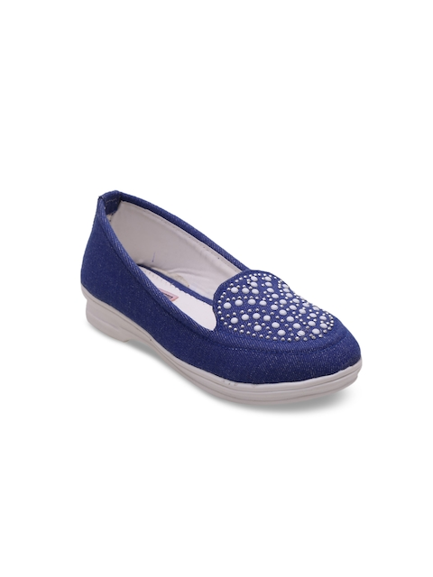DChica Girls Navy Blue Loafers