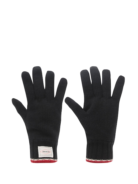 SoulCal Men Blue Knitted Gloves