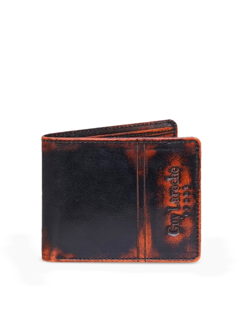 Justanned Men Black & Red Solid Two Fold Wallet