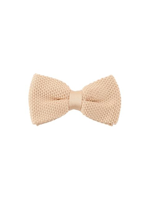 Tossido Men Cream-Coloured Woven Design Bow Tie