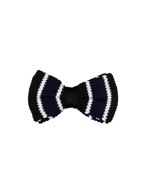 Tossido Blue Woven Design Bow Tie