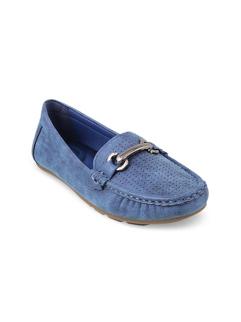 Mochi Women Blue Loafers