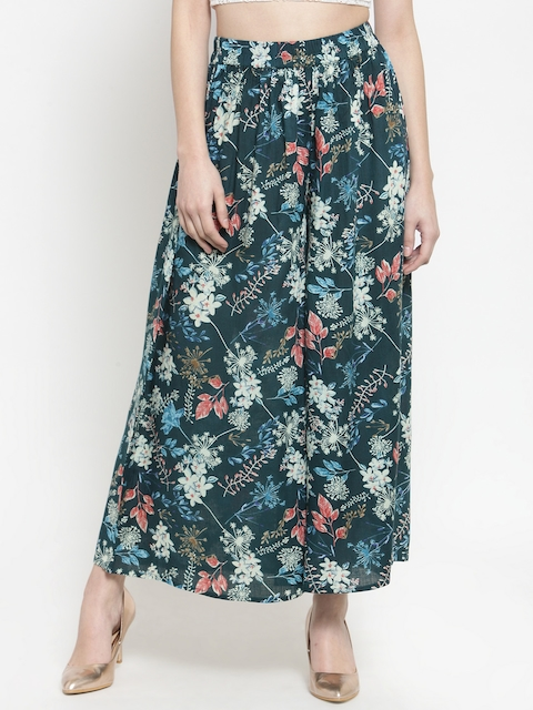 Sera Women Multicoloured Printed Wide Leg Palazzos