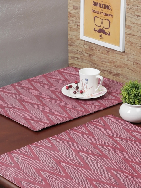 RANGRAGE Set of 6 Maroon Handcrafted Table Placemats