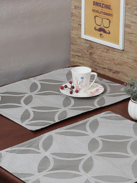 RANGRAGE Set of 6 Grey Handcrafted Table Placemats